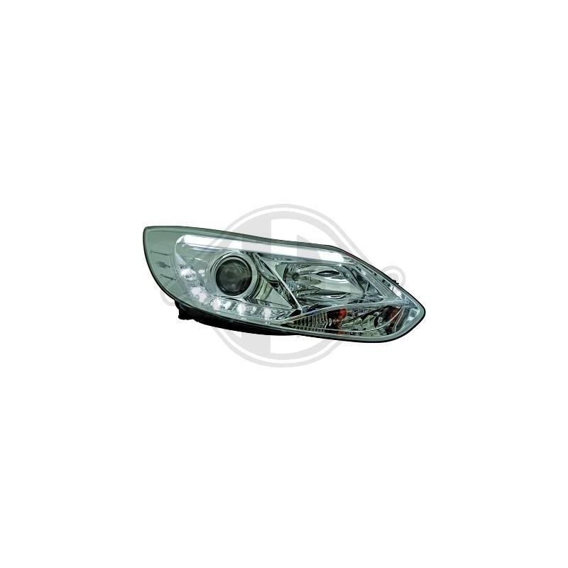 Phares design Ford FOCUS apres 2011 cristal/chrome
