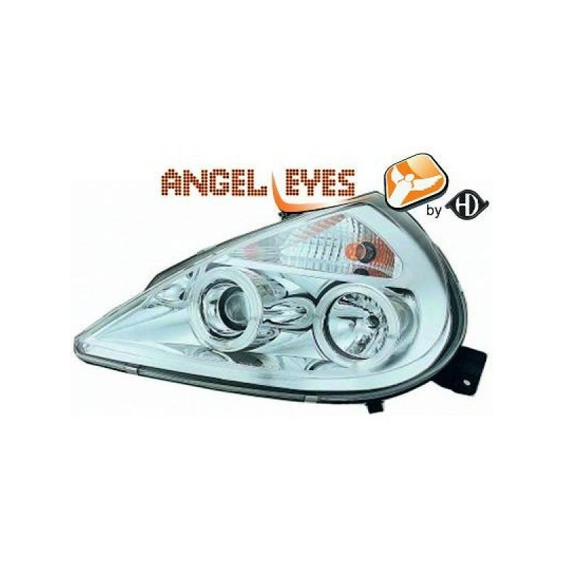 Phares angel eyes chrome Ford KA apres 1997