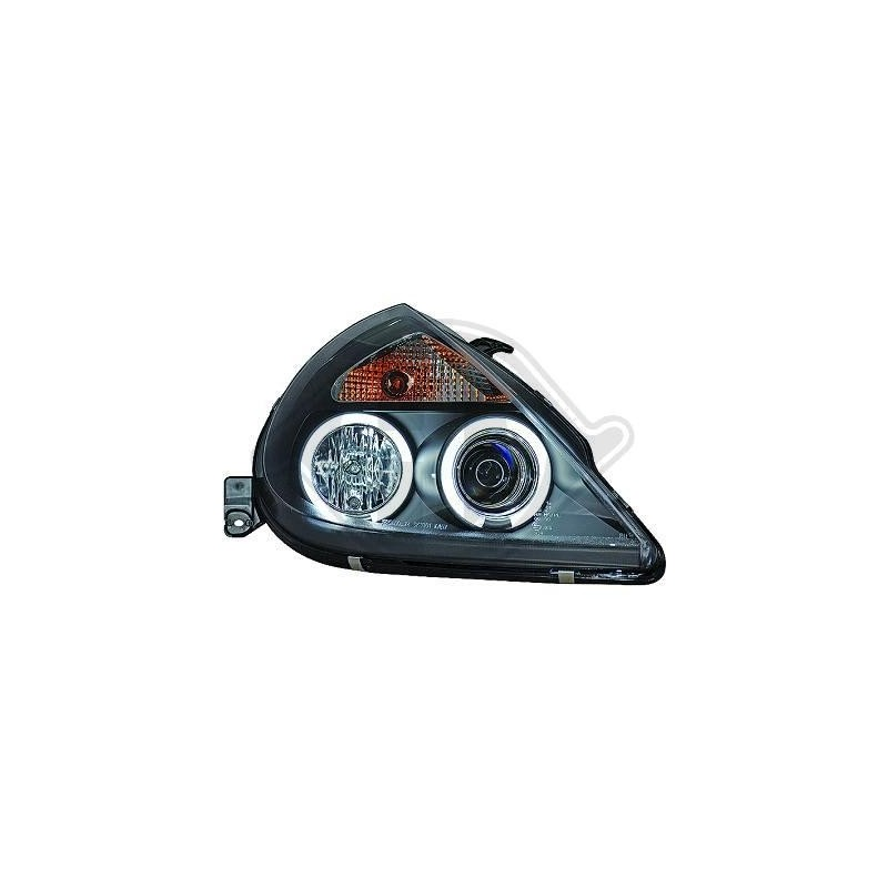 Phares angel eyes Ford KA apres 1997 cristal/noir