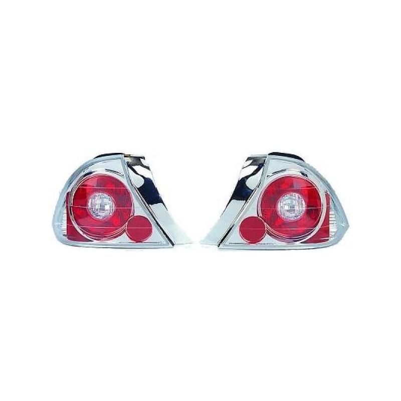 Feux arrières chrome Honda CIVIC 2-portes 01-03 2-portes