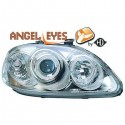 Phares angel eyes chrome Honda CIVIC 96-99
