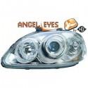 Phares angel eyes chrome Honda CIVIC 99-01