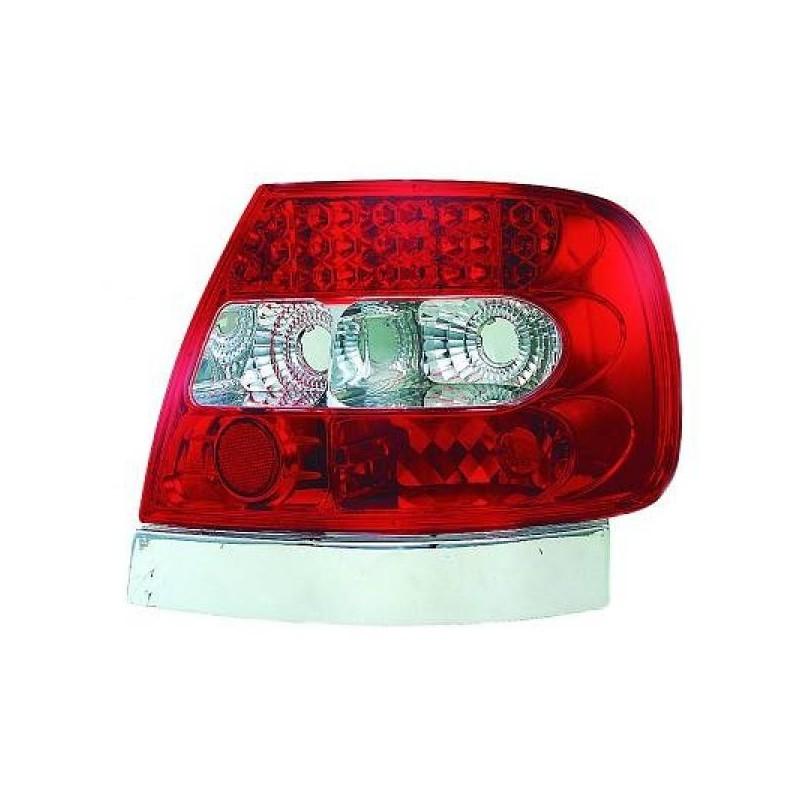 Feux arrières rouge/blanc LED Audi A4 94-00 Berline