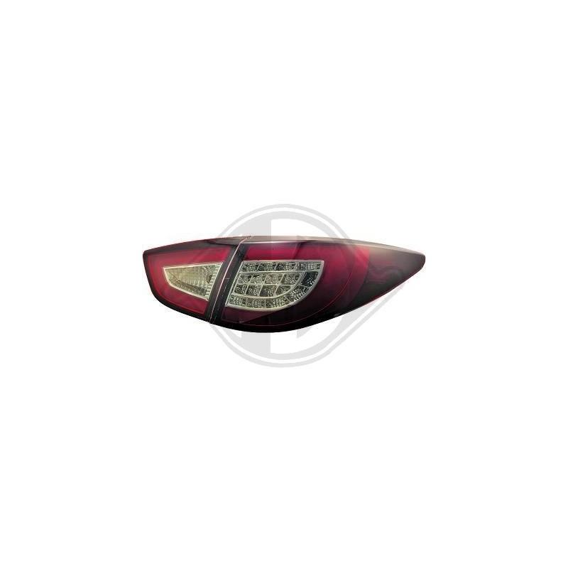 Feux arrières LED hyundai iX35 apres 2010 LED cristal/rouge-noir