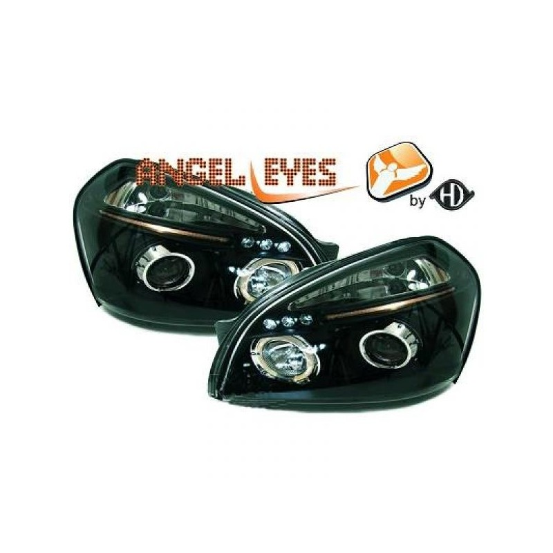 Phares angel eyes noir Hyundai TUCSON apres 2004