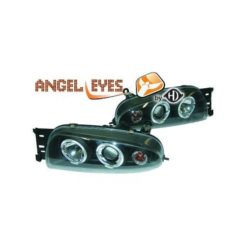 Phares angel eyes noir Mazda 121 96-99