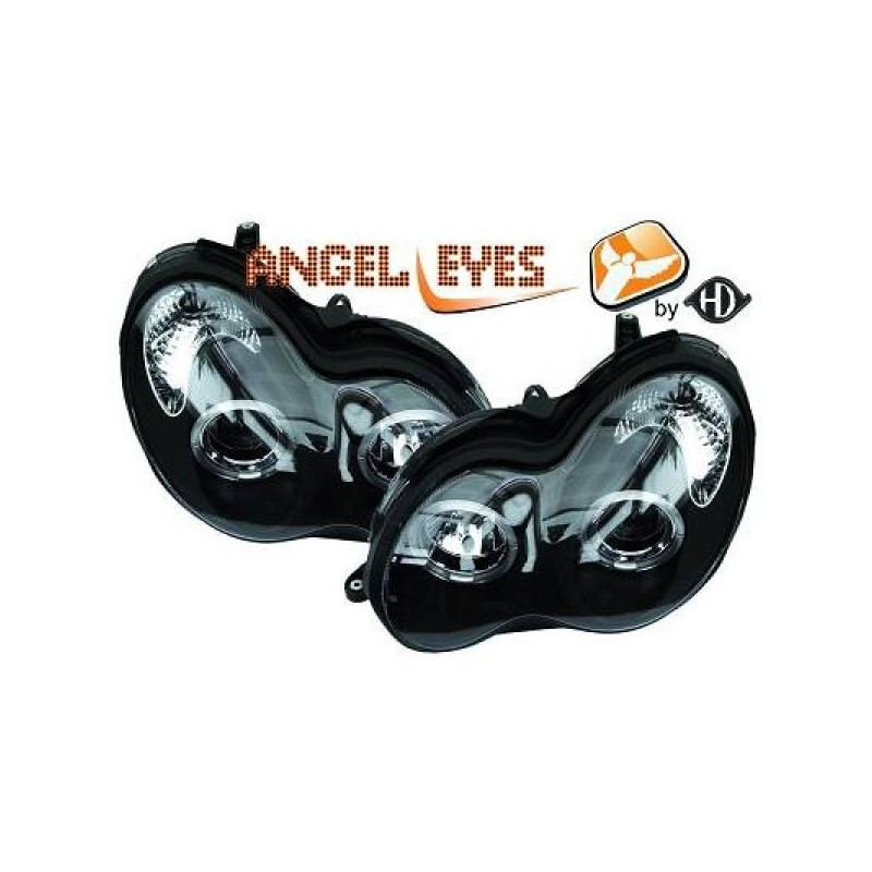 Phares angel eyes noir Mercedes W203 00-07