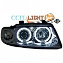 Phares angel eyes CCFL cristal/chrome Audi A4 95-98