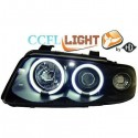 Phares angel eyes CCFL cristal/noir Audi A4 95-98