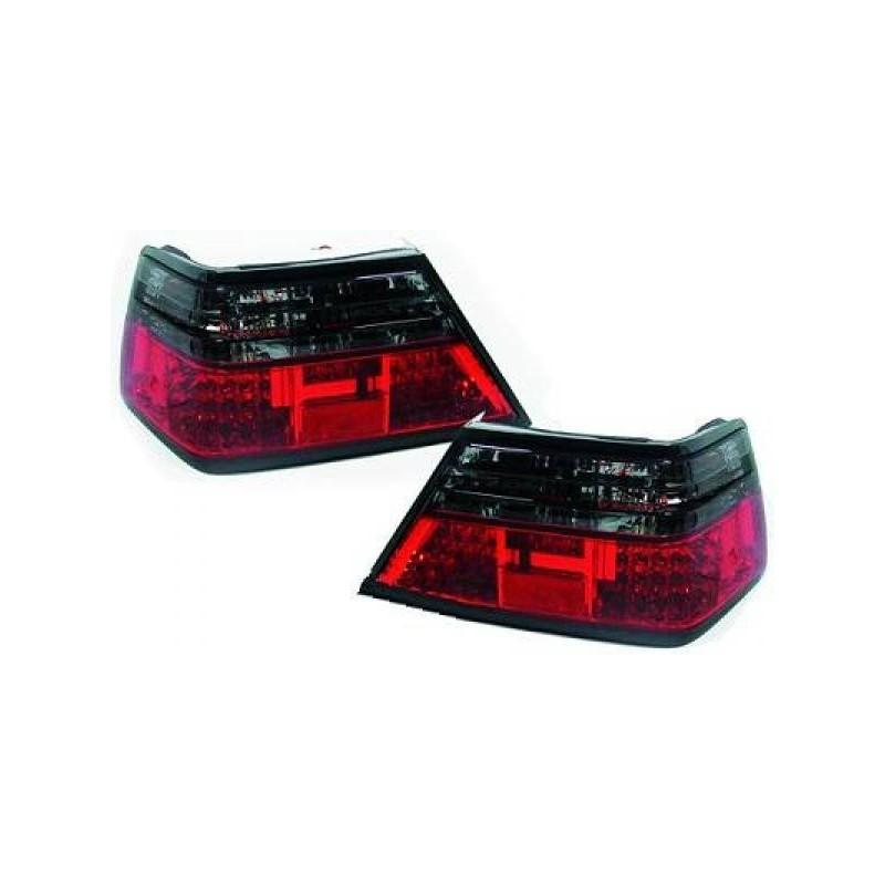 Feux arrières rouge/noir LED Mercedes W124 85-95