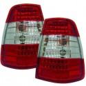 Feux arrières cristal/rouge-blanc LED Mercedes W124 Break 85-95