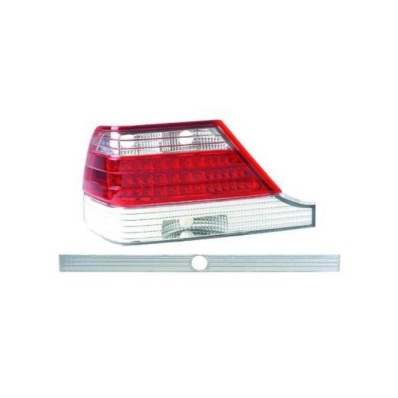 Feux arrières rouge/blanc LED Mercedes W140 92-98