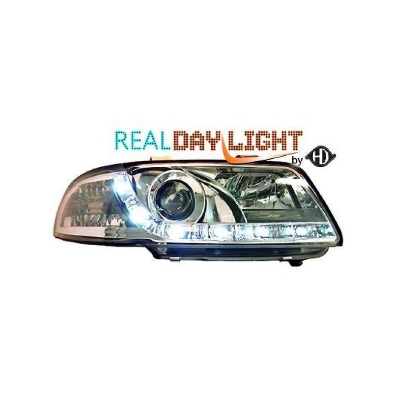 Phares DEVIL EYES LED Audi A4 94-98 cristal/chrome