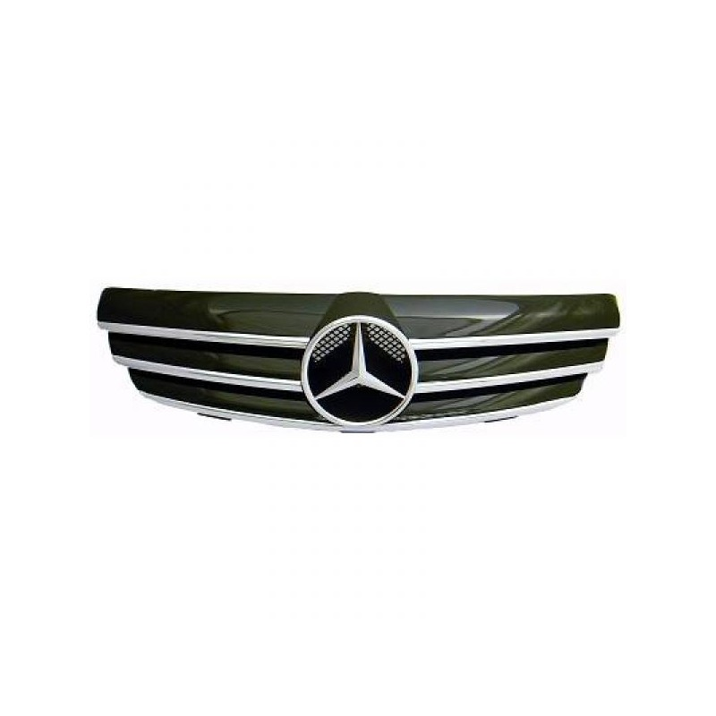 Calandre chrome/noir Mercedes W209 apres 2002