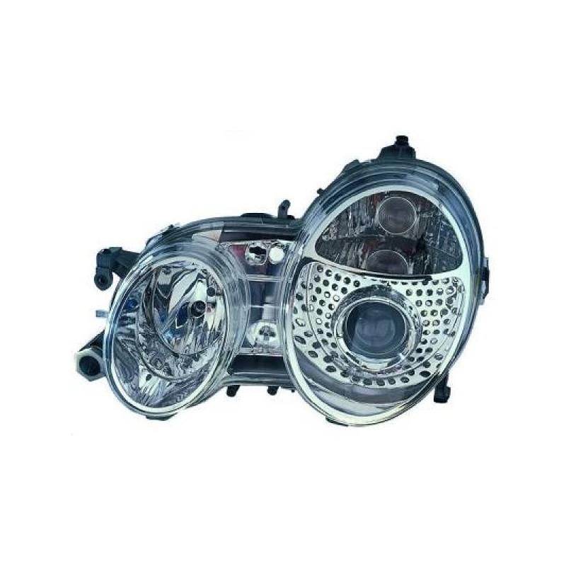Phares design Xenon Mercedes W208 97-02 chrome
