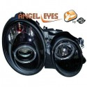 Phares Angel Eyes noir Mercedes W208 97-02
