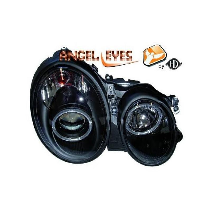 Phares Angel Eyes noir Mercedes W208 97-02