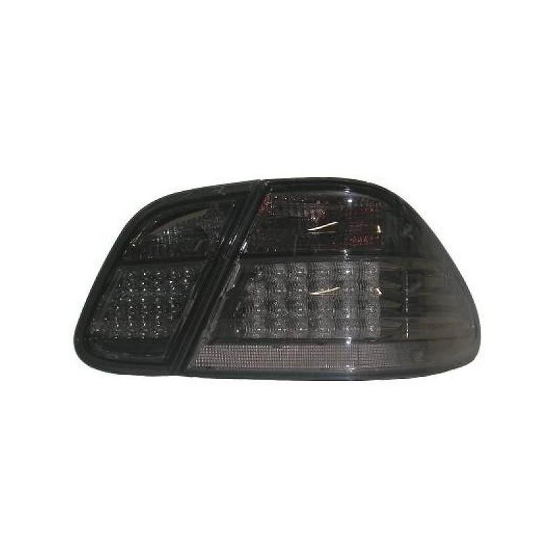 Feux arrières LED noir Mercedes W 208 97-02 4 pièces