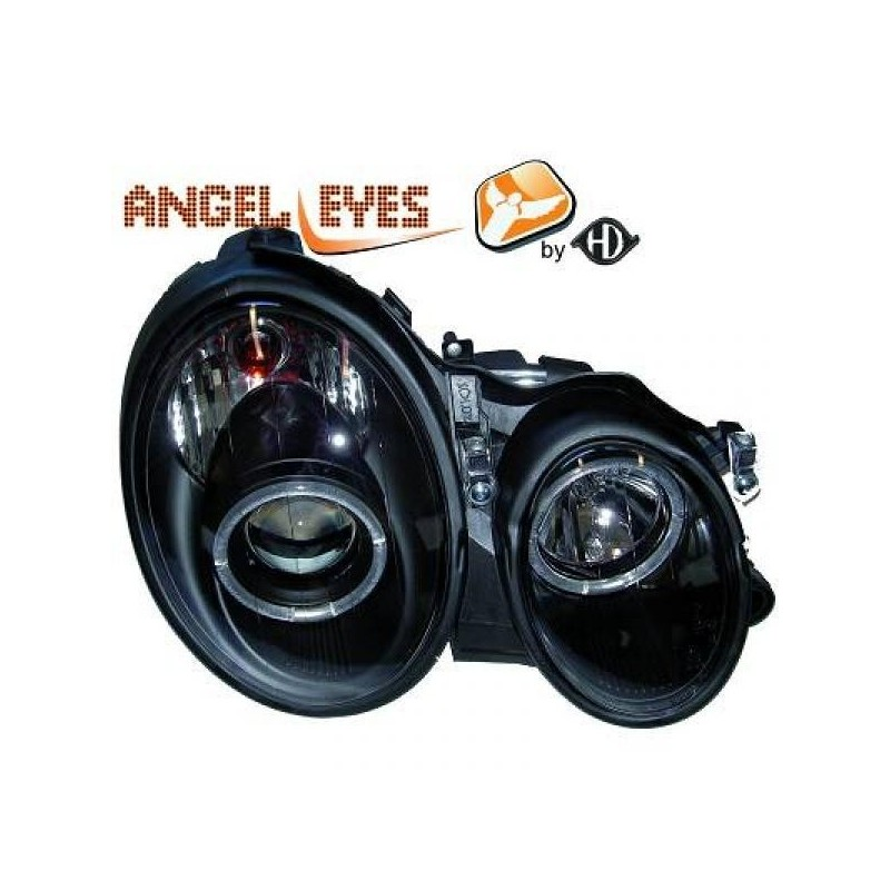 Phares angel eyes noir Mercedes W210 95-99