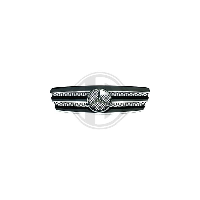Calandre Mercedes W211 02-06 chrome/noir LOOK SPORT