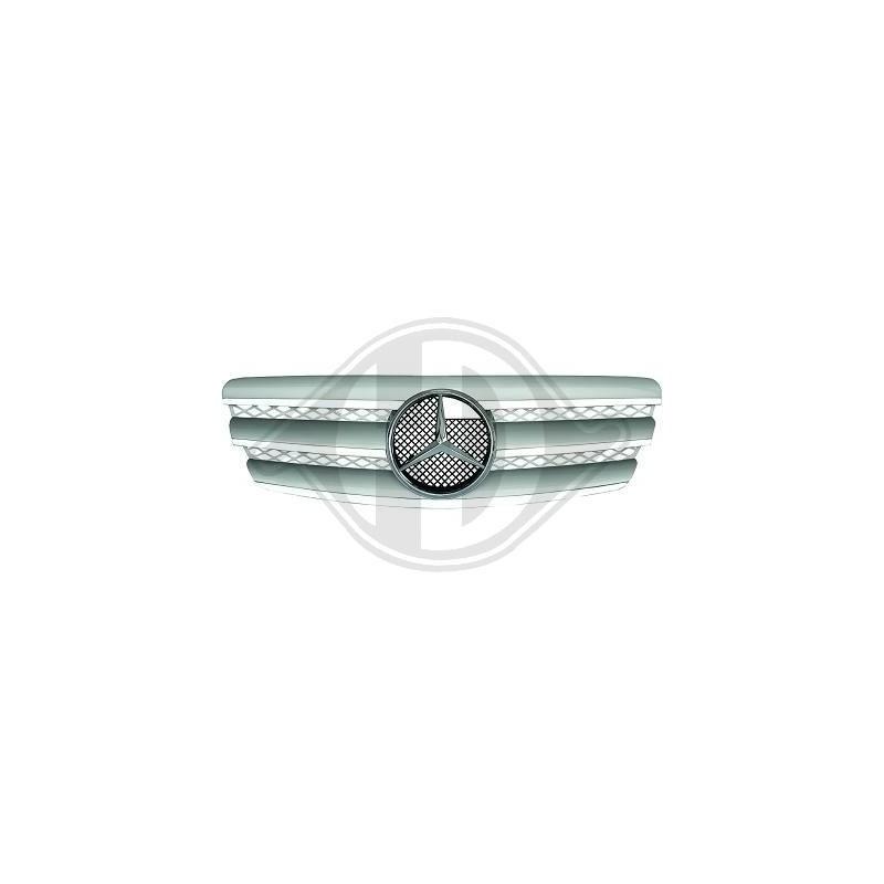 Calandre Mercedes W211 02-06 chrome/argent LOOK SPORT