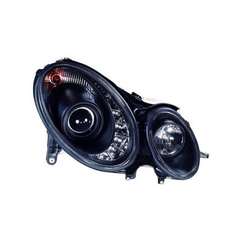 Phares DEVIL EYES Mercedes W211 02-06 noir