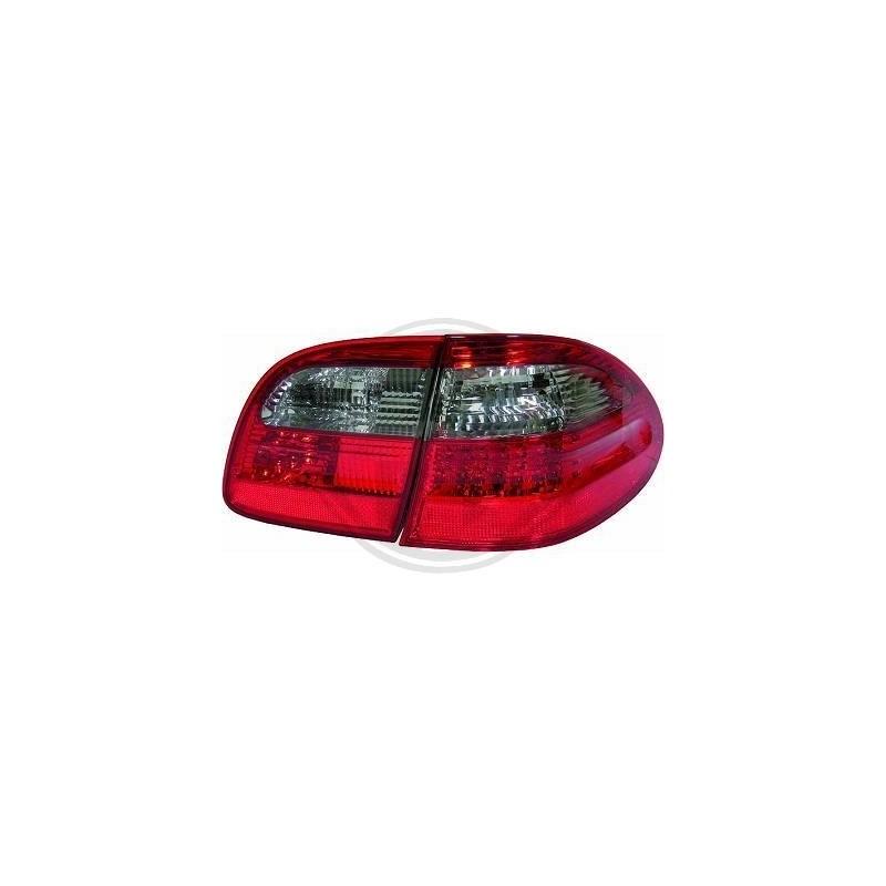 Feux arriere LED Mercedes E220-500 W211 02-06 ROUGE-NOIR