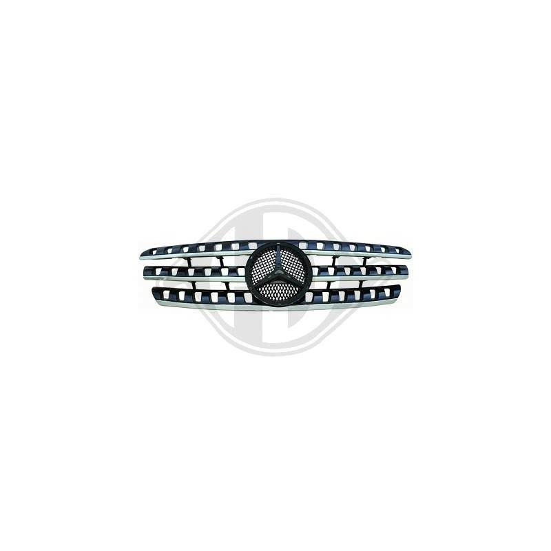 Calandre Mercedes W163 98-05 LOOK W164 chrome/noir