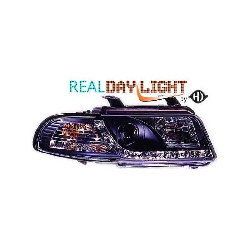 Phares DEVIL EYES LED Audi A4 99-01 cristal/noir