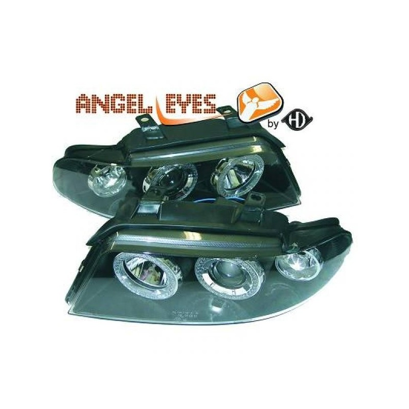 Phares angel eyes noir . Audi A4 99-01