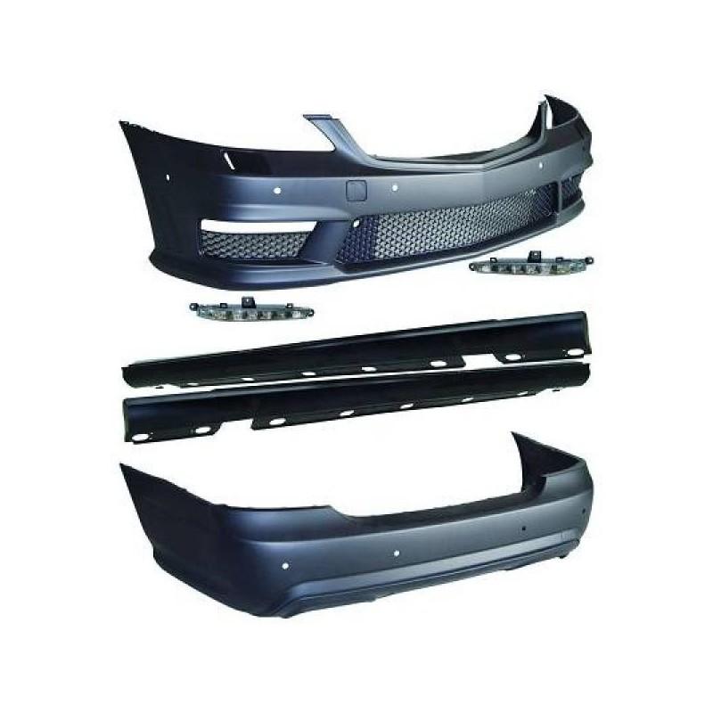 Pare-chocs design kit Mercedes W221 06-11 version longue S65 AMG OPTIK