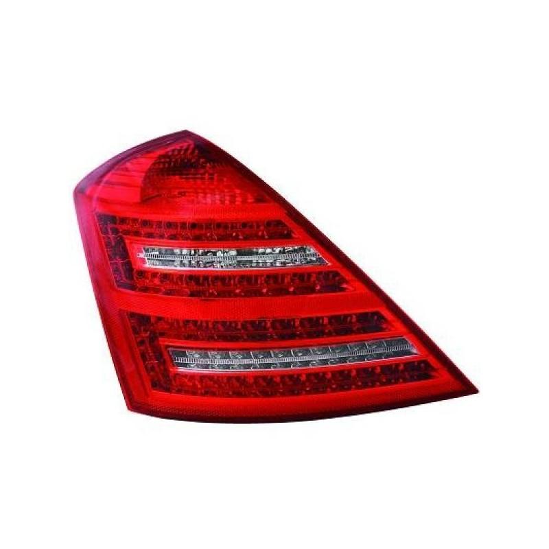 Feux arriere Mercedes W221 20-11 LED cristal/rouge-blanc