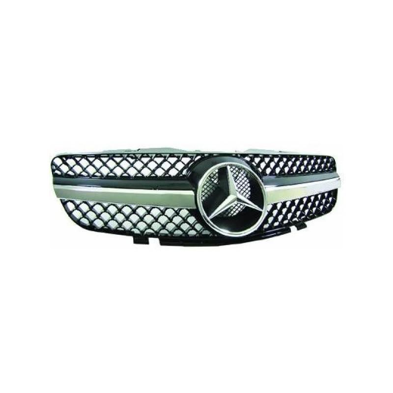 Calandre Mercedes R230 01-12 chrome/noir SPORTLOOK