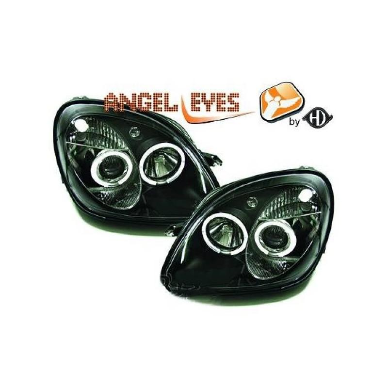 Phares angel eyes noir Mercedes SLK 96-04