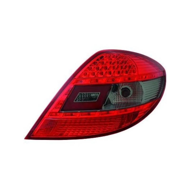 Feux arrière LED Mercedes SLK R171 04-11 cristal rouge/noir