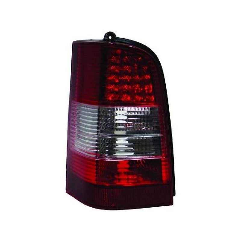 Feux arriere Mercedes W638 95-03 pour VITO LED cristal/rouge-chrome