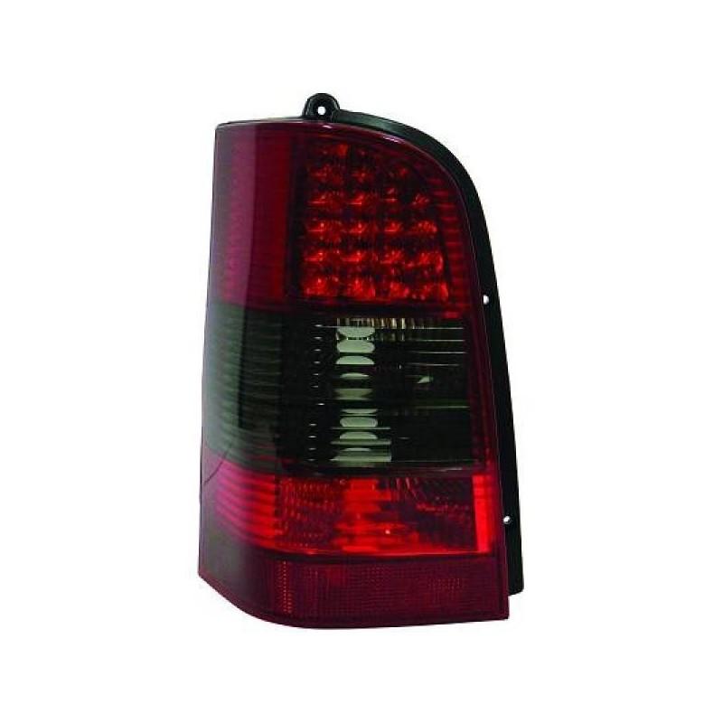Feux arriere Mercedes W638 95-03 pour VITO LED cristal/rouge-fumé