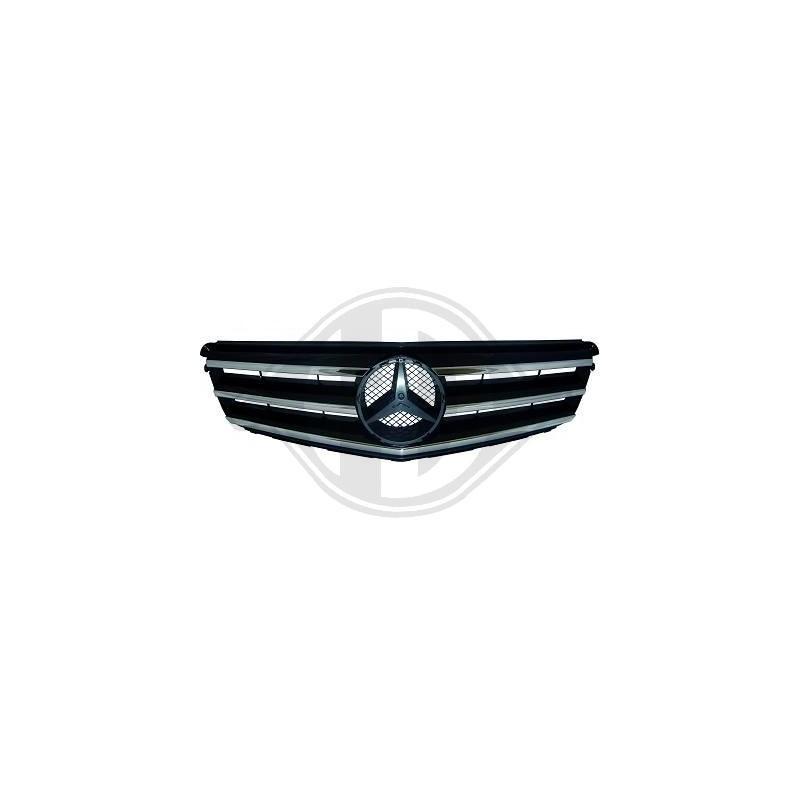 calandre Mercedes Avantgarde W204 apres 2007 chrome/noir