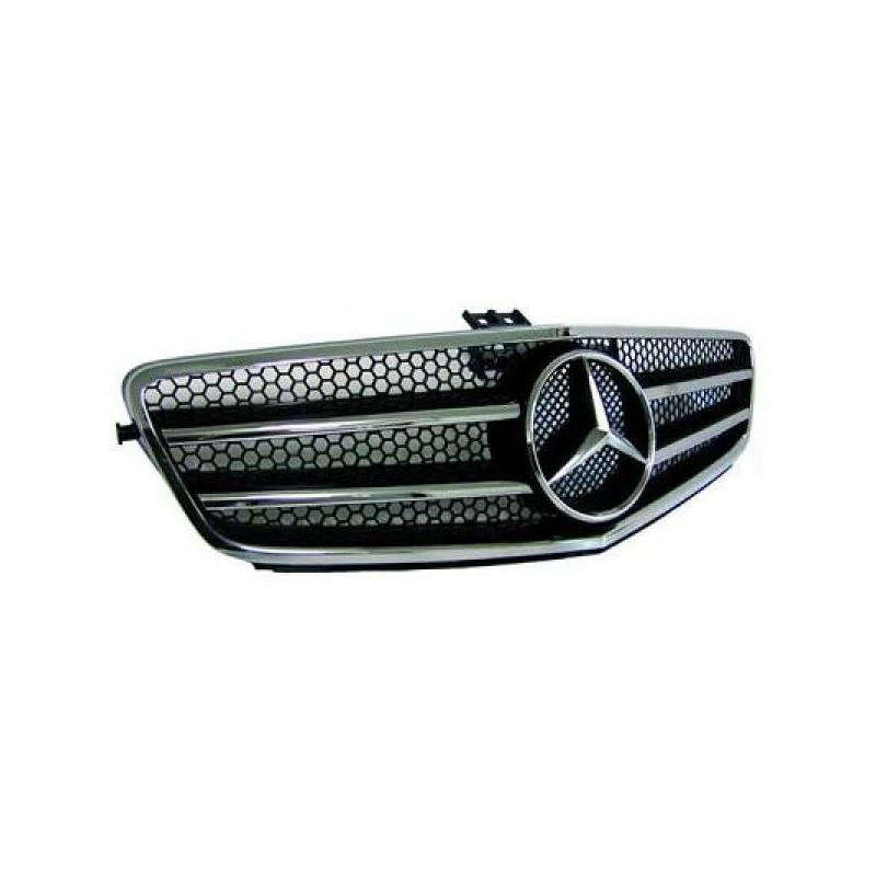 Calandre Sport chrome/noir avec motif MERCEDES W204 07-10