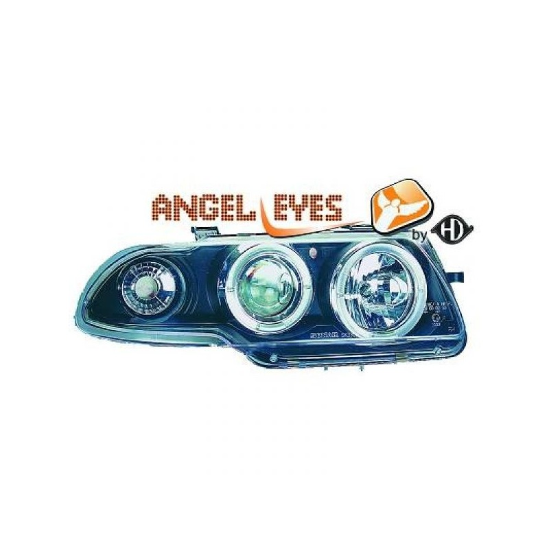 Phares angel eyes noir Opel ASTRA 94-98