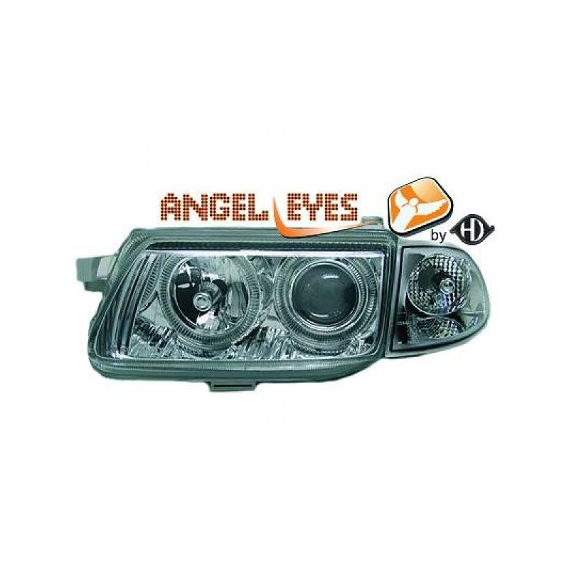 Phares angel eyes chrome Opel ASTRA 94-98