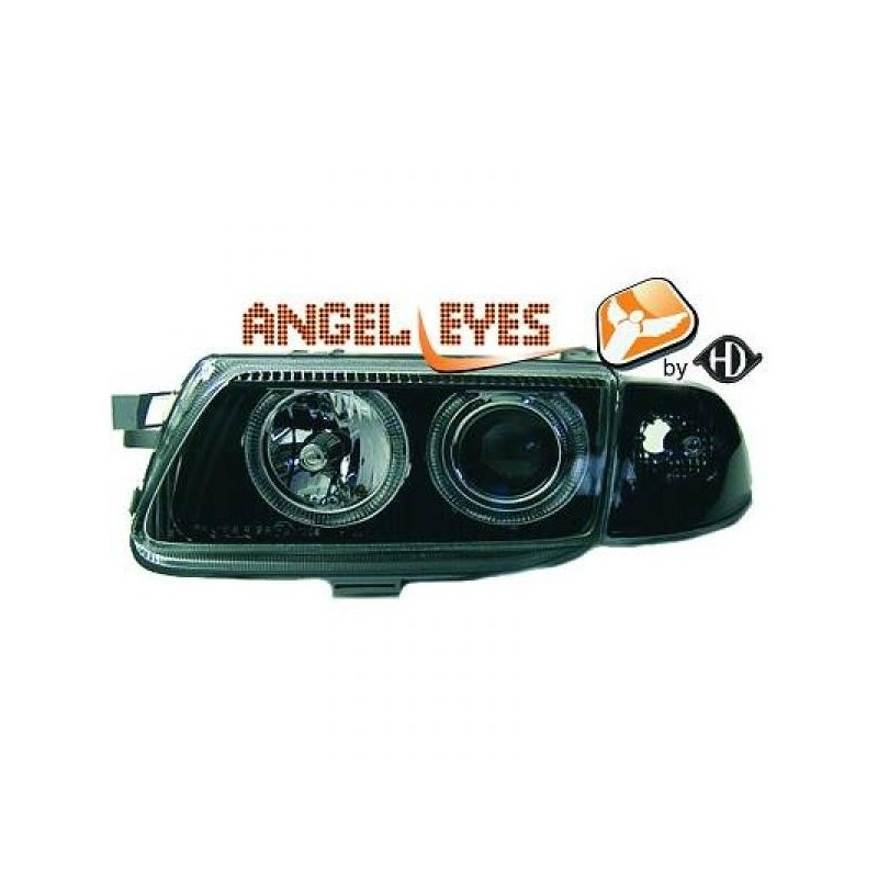 Phares angel eyes noir Opel ASTRA 94-98