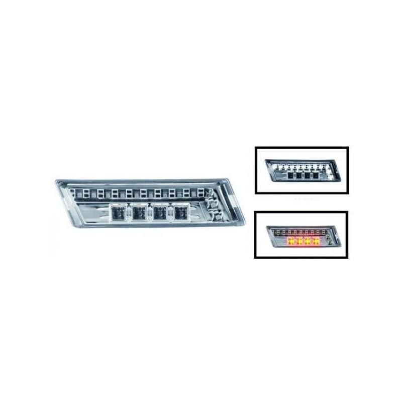 Répétiteur design LED/chrome avec diurnes AUDI A4 04-07