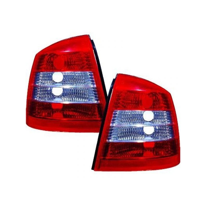 Feux arrières roug/blanc Opel ASTRA 97-04 3/5-portes