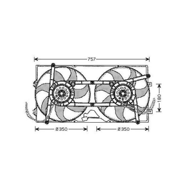 Electro-ventilateur double VW T4 1990 à 1997