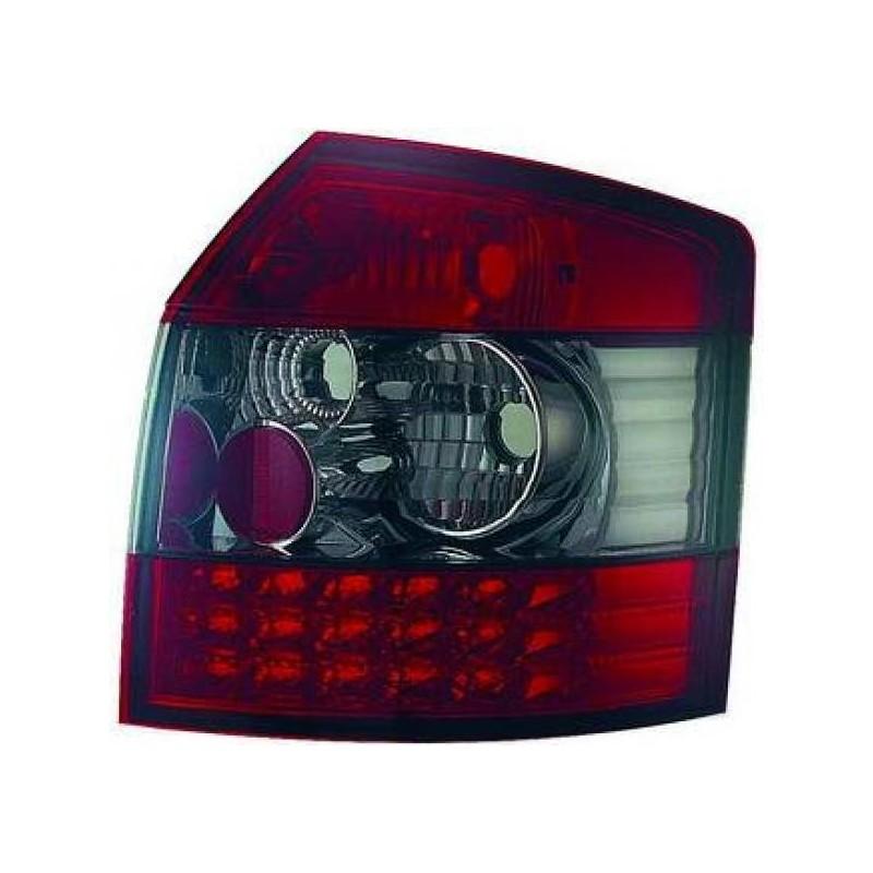 Feux arrières rouge/noir LED Audi A4 Break 00-04