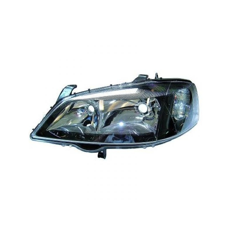 Phare ANGEL EYES Droit cadre noir Opel Astra G Coupe/Cabrio