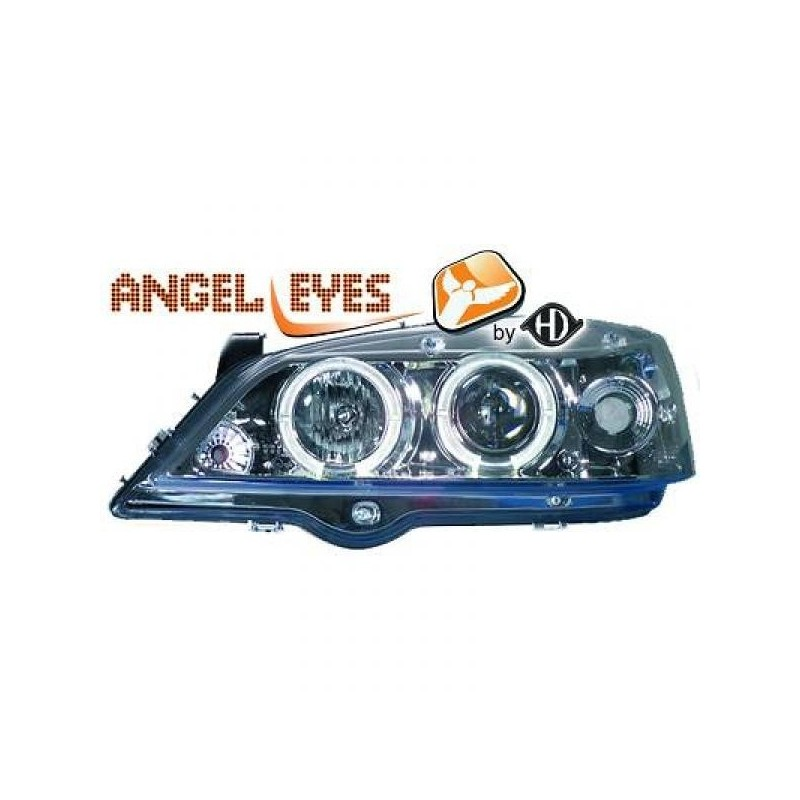 Phares angel eyes chrome Opel ASTRA G Coupe/Cabrio 97-04