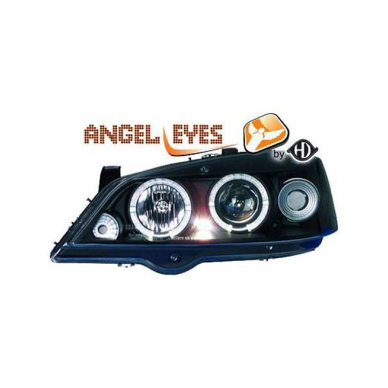 Phares angel eyes noir Opel ASTRA G Coupe/Cabrio 97-04