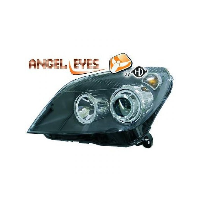 Phares angel eyes noir Opel ASTRA 04-09